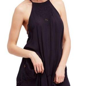 Free People Heat Wave Tunic Dress Black